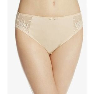 Elomi XL Caitlyn Brief Embroidered Lace Sides